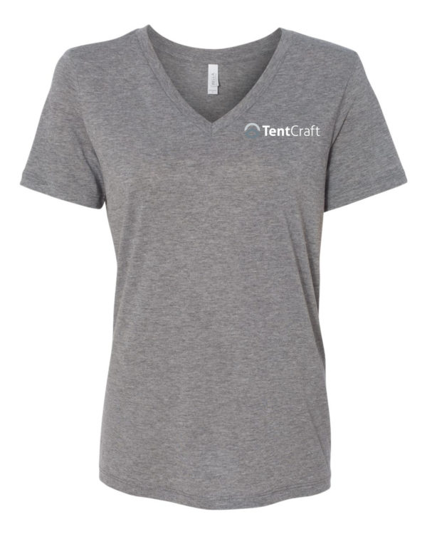 Ladies Short Sleeve V-Neck Tee