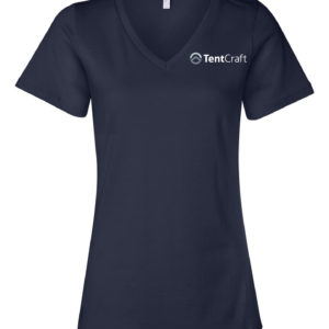Ladies Short Sleeve V-Neck Tee