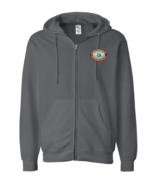 Adult Full Zip Sweatshirt - Oval Logo