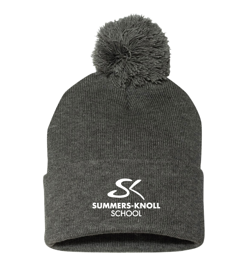 e1de30138af Pom Pom Knit Beanie - Threads Custom Gear