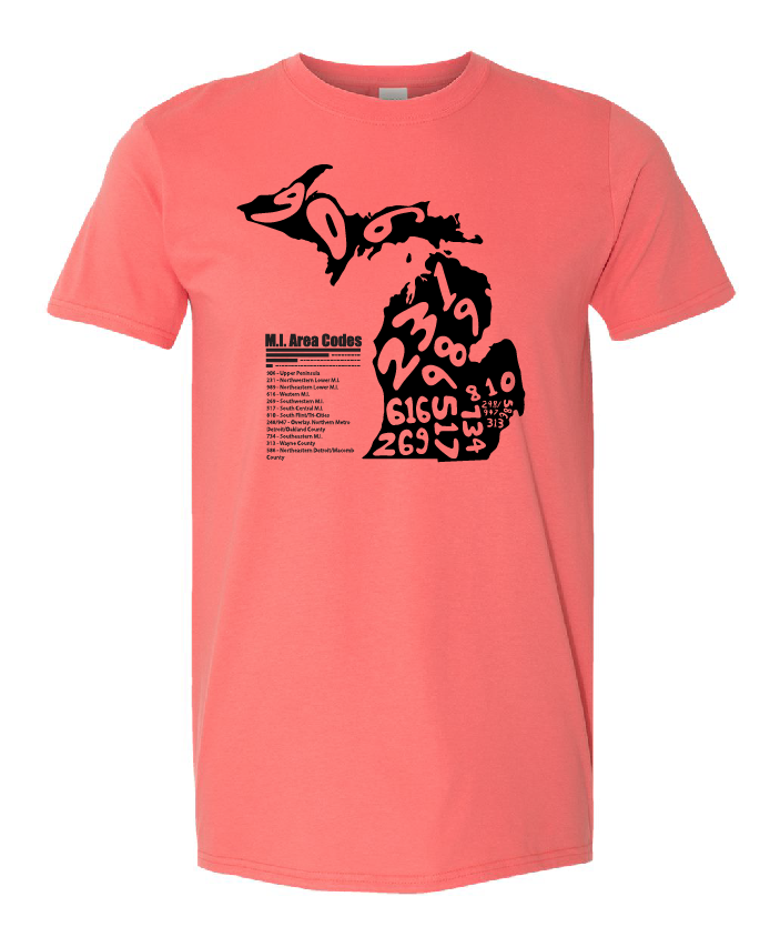 Area Code Coral Tee